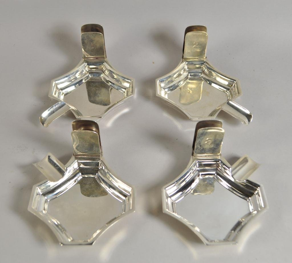 C.1940 ASPREY LONDON STACKING MATCH SAFE ASH TRAYS