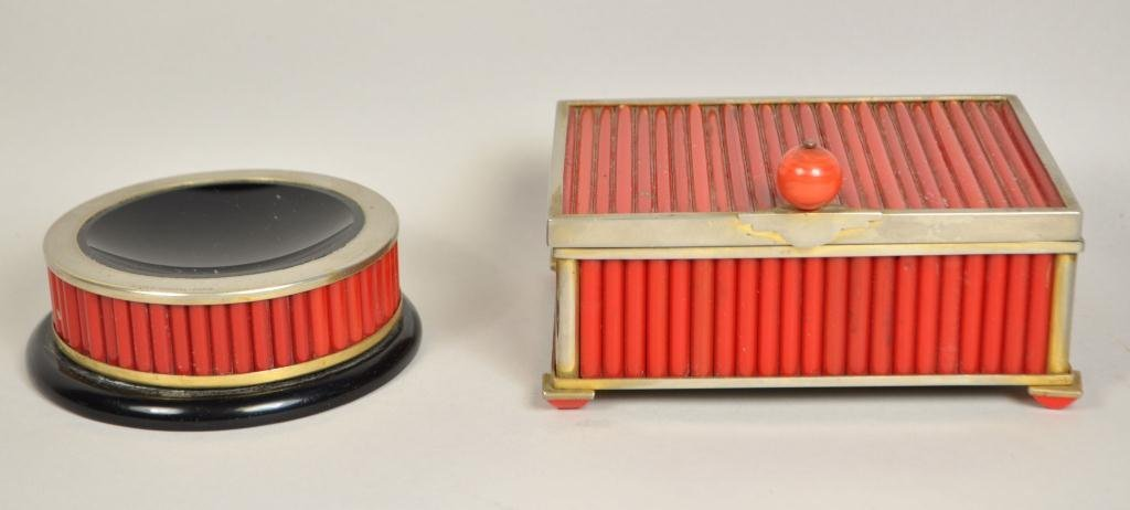 1930 ALFRED DUNHILL PARIS CIGARETTE BOX & ASH TRAY