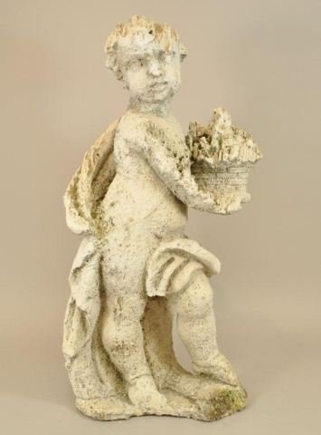18TH C. CARVED CORAL GARDEN STATUE