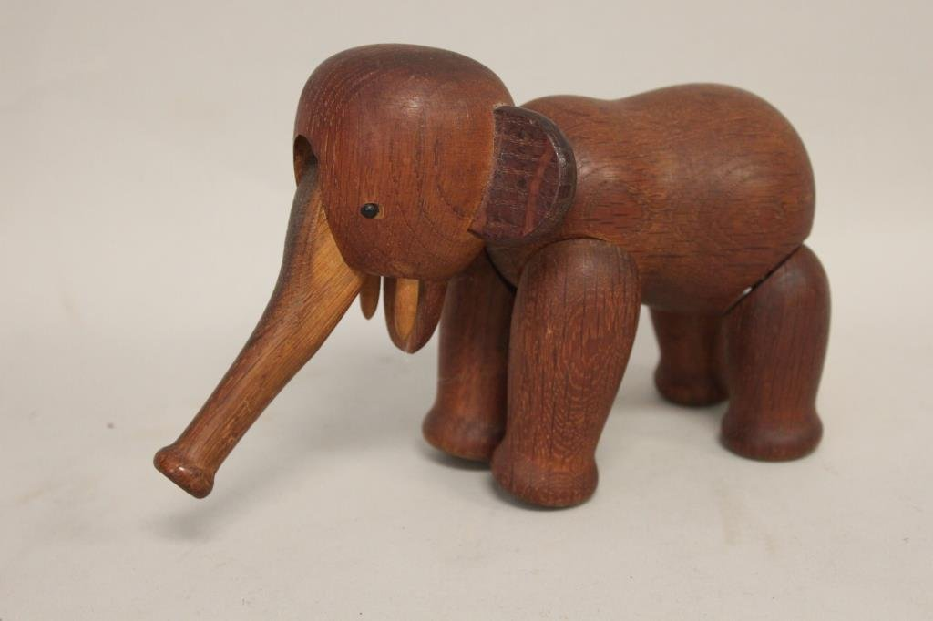 KAY BOJESEN DANISH ARTICULATED WOODEN ELEPHANT