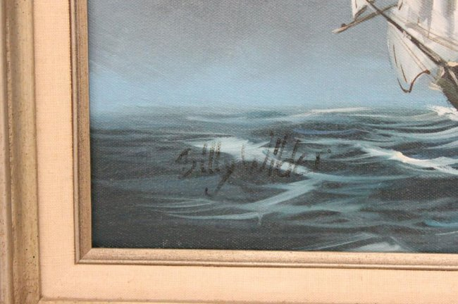 O/C PAINTING OF A SEA CAPTAIN BY BILLY WILDER : Lot 314