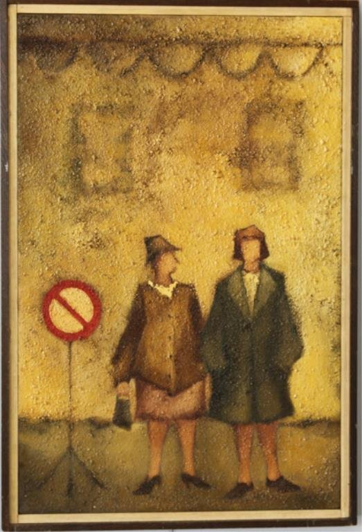 O/C TWO FIGURES  (20TH CENTURY)