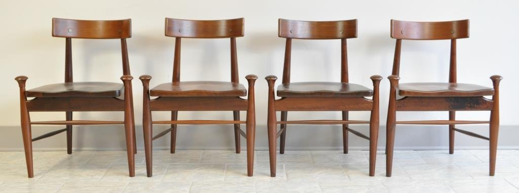 4 MID-CENTURY ROSEWOOD DINING CHAIRS