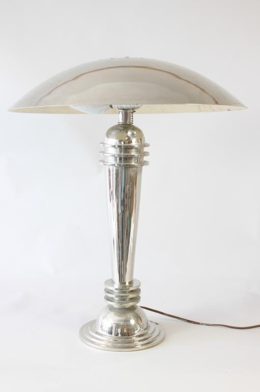 ART DECO MACHINE AGE TABLE LAMP