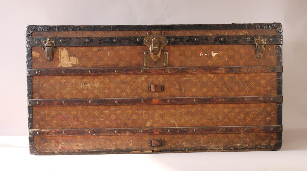 EARLY 20TH C. LOUIS VUITTON STEAMER TRUNK