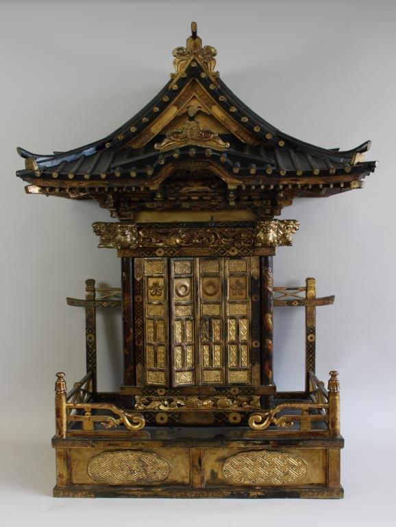 19TH C. JAPANESE PAGODA  MODEL HOME SHRINE