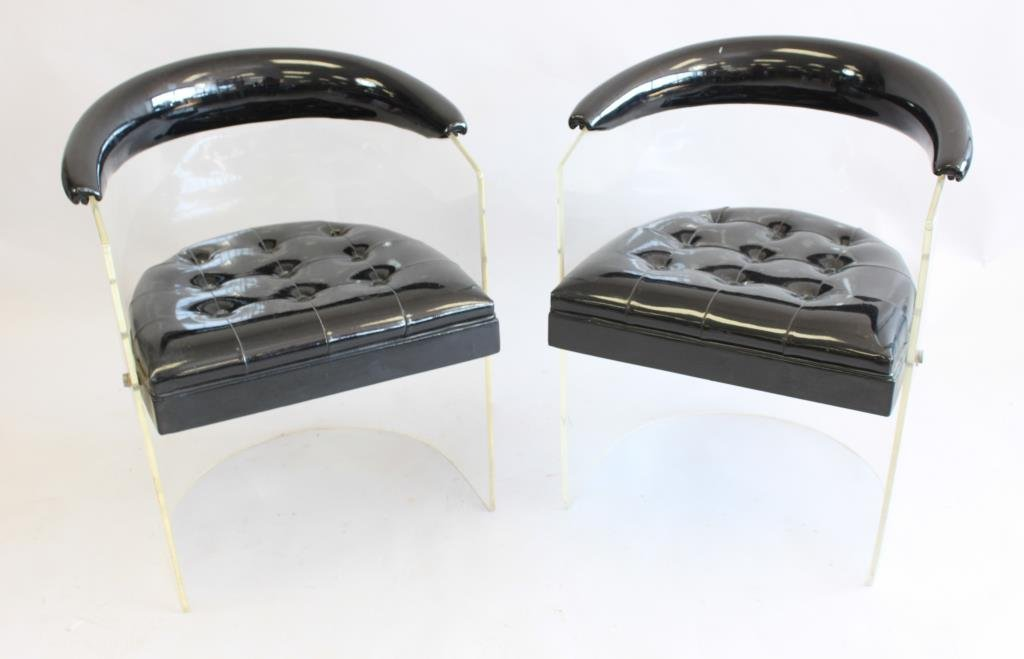 PAIR OF LUCITE CLUB CHAIRS