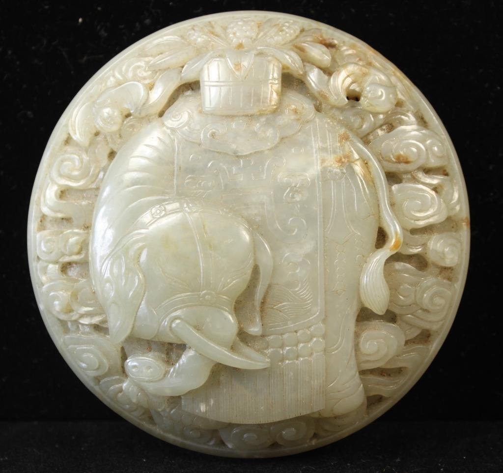 EXCELLENT CHINESE EARLY QING 18TH C. CARVED JADE
