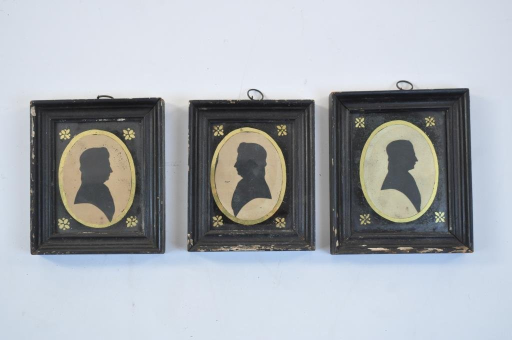 19TH C. SILHOUETTES ATTR. TO WILLIAM JAMES HUBARD