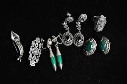 STERLING SILVER  MARCASITE JEWELRY GROUPING