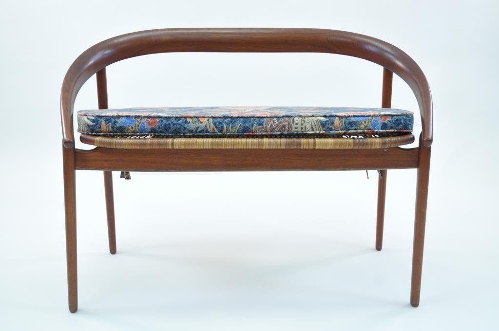 DANISH CANED SEAT SETTEE