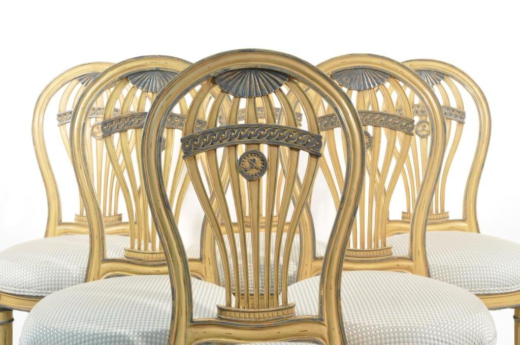 SET OF 6 FRENCH BALLOON BACK CHAIRS - 2