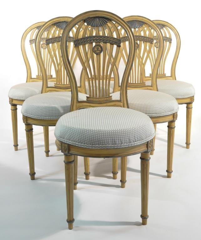 SET OF 6 FRENCH BALLOON BACK CHAIRS - 3