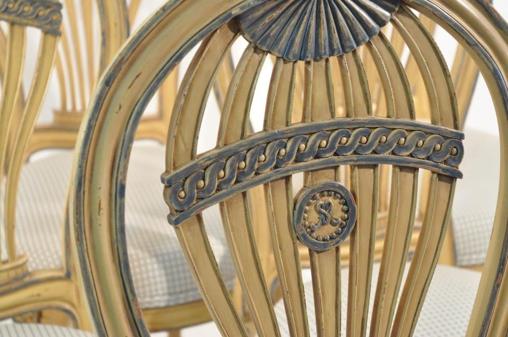 SET OF 6 FRENCH BALLOON BACK CHAIRS - 5