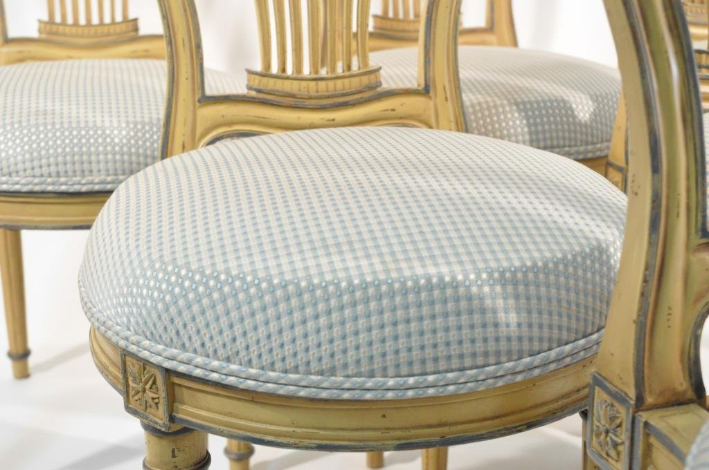 SET OF 6 FRENCH BALLOON BACK CHAIRS - 6