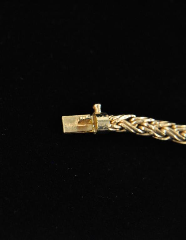 14K GOLD TIFFANY & CO BRAIDED ROPE NECKLACE - 5