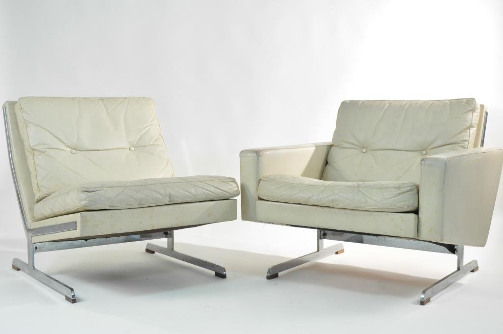 MID-CENTURY ITALIAN LEATHER LOUNGE CHAIRS