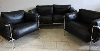 LE CORBUSIER LC3 GRAND CONFORT STYLE SEATING SET