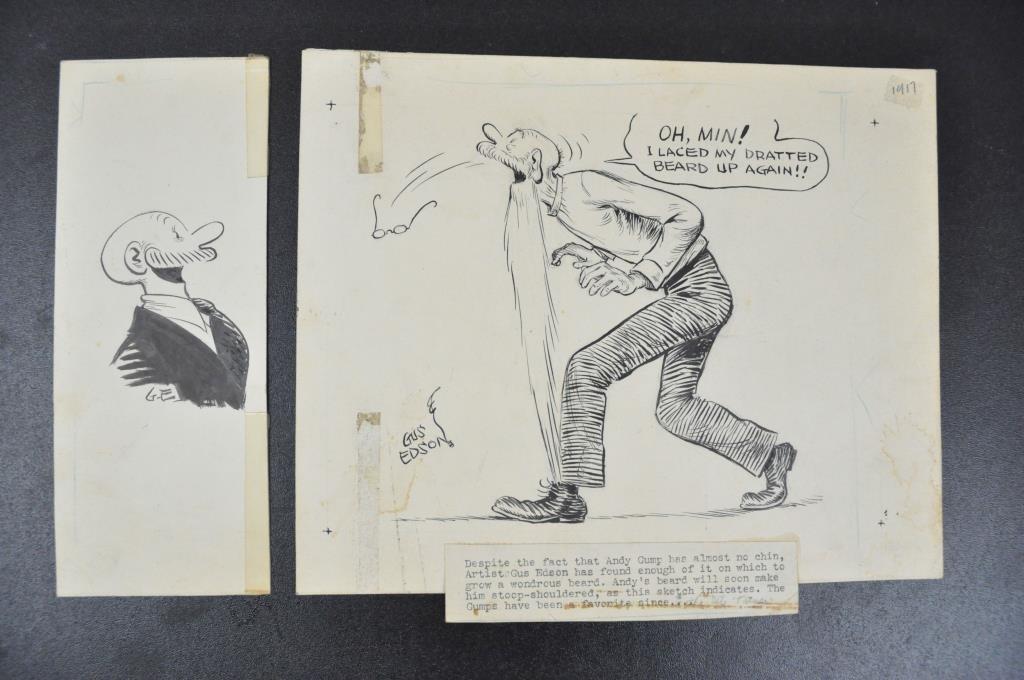 GUS EDSON ORIGINAL ILLUSTRATION 'THE GUMPS'