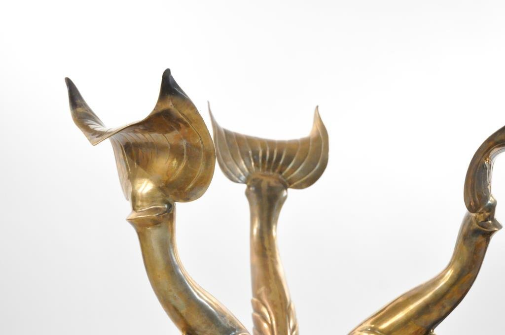 PAIR OF MAITLAND SMITH BRASS KOI FISH TABLE BASES - 5