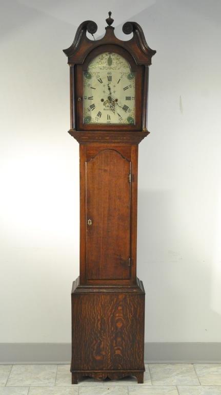 SCOTTISH LONG CASE GRANDFATHER CLOCK