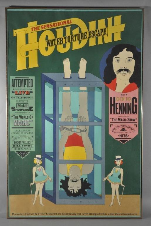 SEYMOUR CHWAST (AMERICAN -1931) HOUDINI POSTER