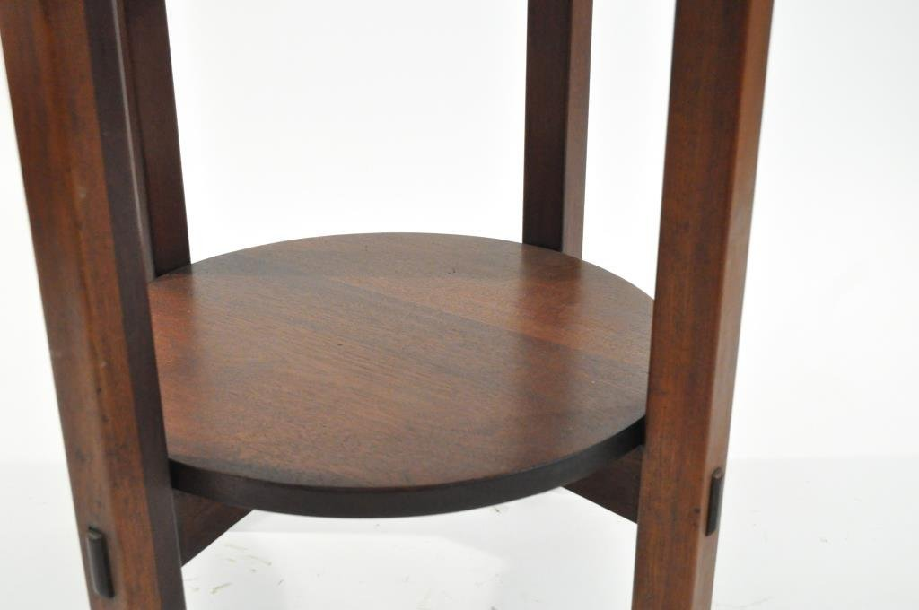 L. & J.G. STICKLEY LEATHER TOP TABLE - 7