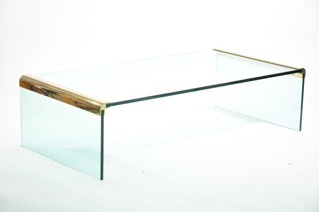 PACE COLLECTION GLASS COFFEE TABLE
