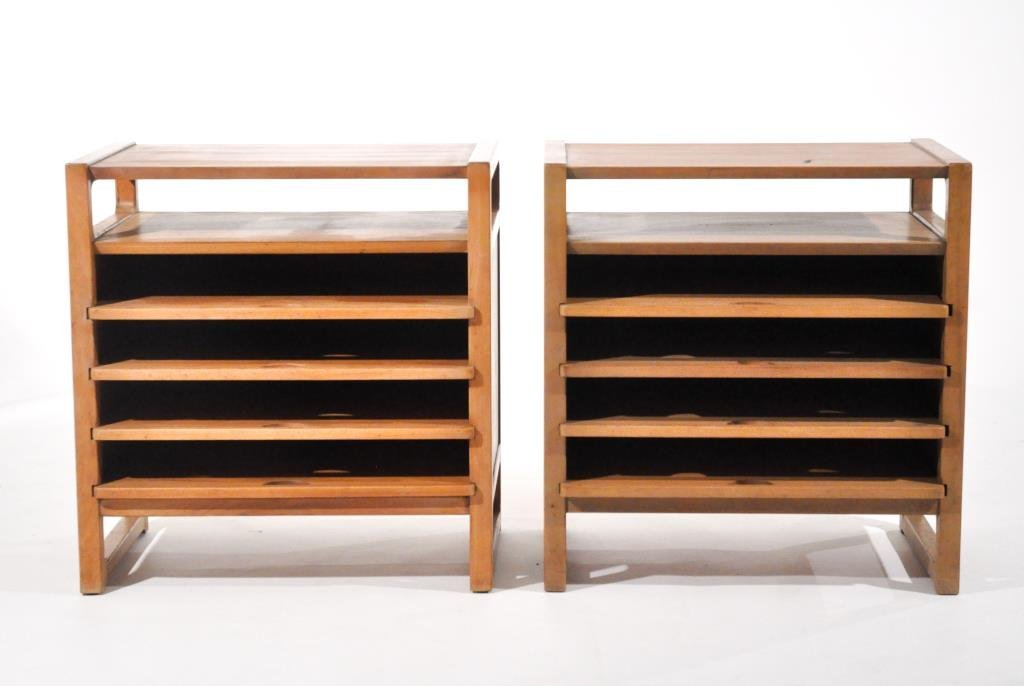 PAIR OF EDWARD WORMLEY MAGAZINE TABLES