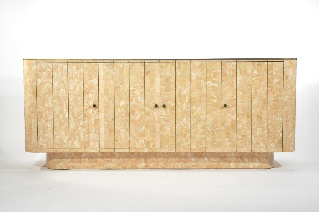 MAITLAND SMITH TESSELLATED MARBLE CABINET