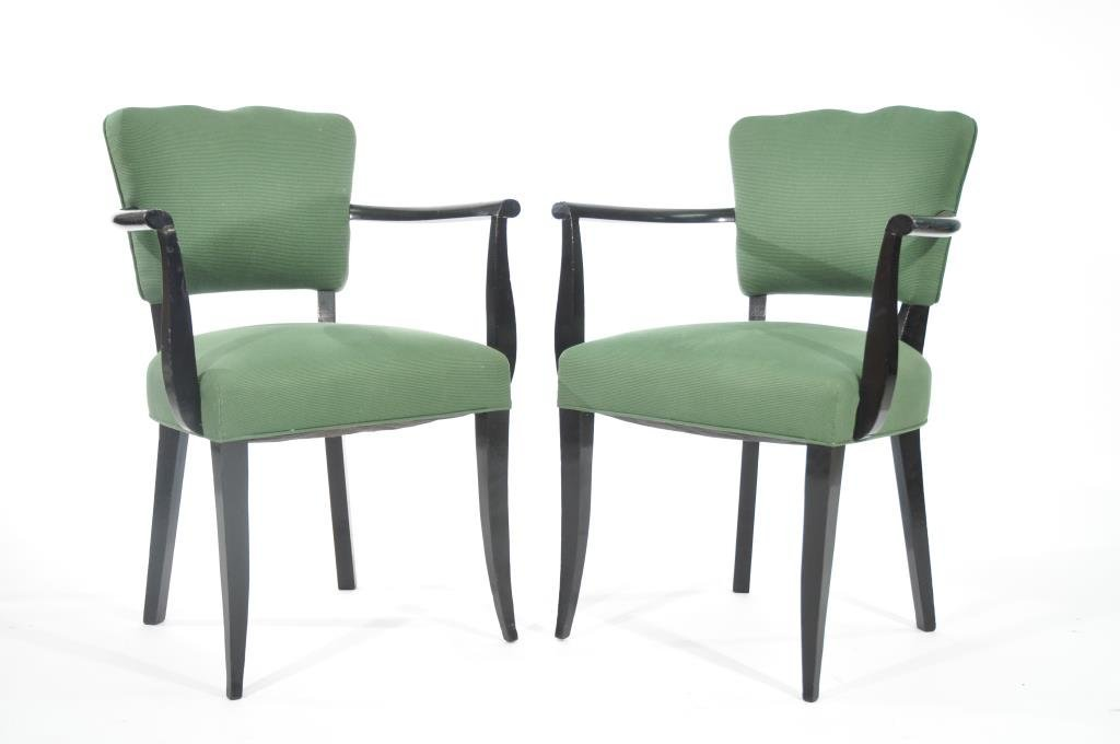 PAIR ANDRE ARBUS SYCAMORE STYLE ARMCHAIRS