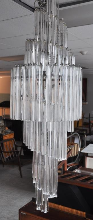 CAMER ITALIAN GLASS SPIRAL CHANDELIER
