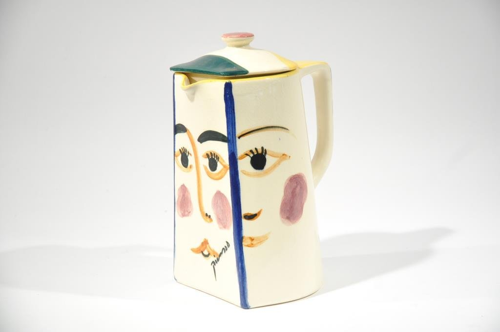 PADILLA  AFTER  PABLO PICASSO CERAMIC COFFEE POT