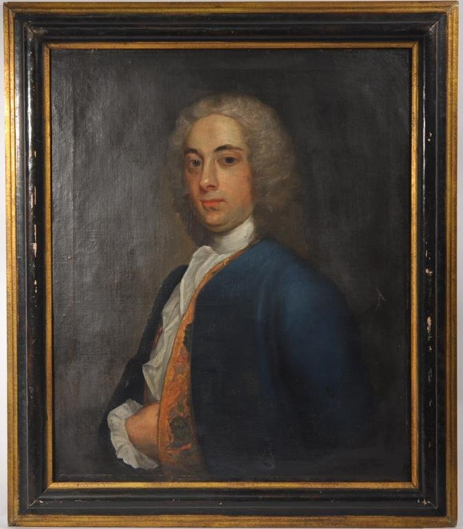 18TH C. BRITISH SCHOOL PORTRAIT OF A GENTLEMAN