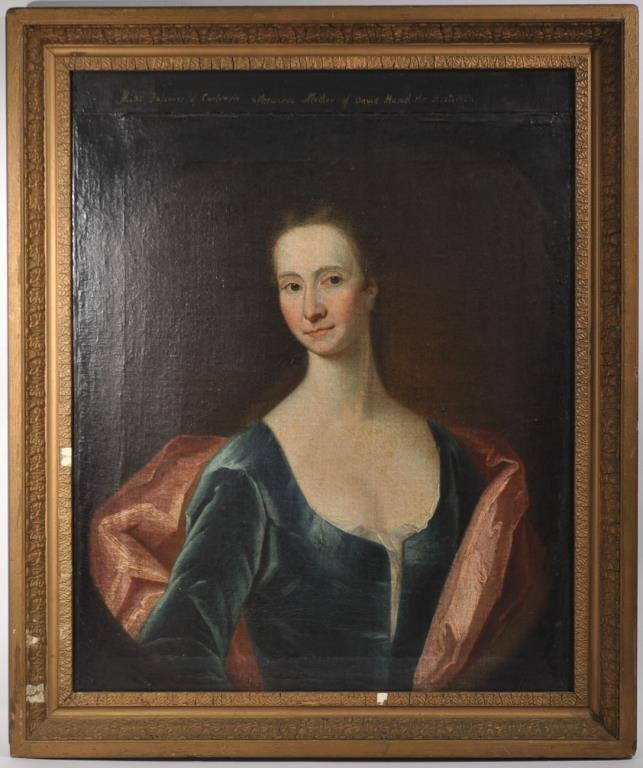 18TH C. BRITISH SCHOOL PORTRAIT OF A LADY 1