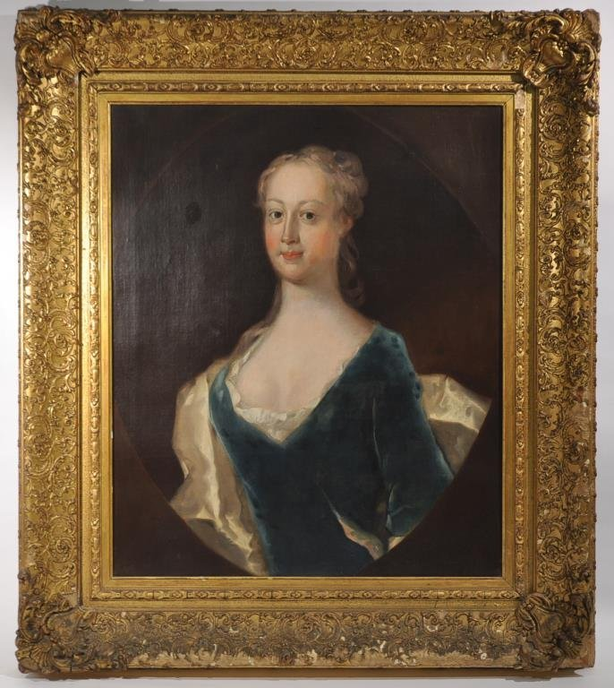 18TH C. BRITSH SCHOOL PORTRAIT OF A LADY 2