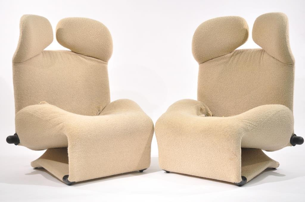 PAIR OF TOSHIYUKI KITA WINK CHAIRS FOR CASSINA