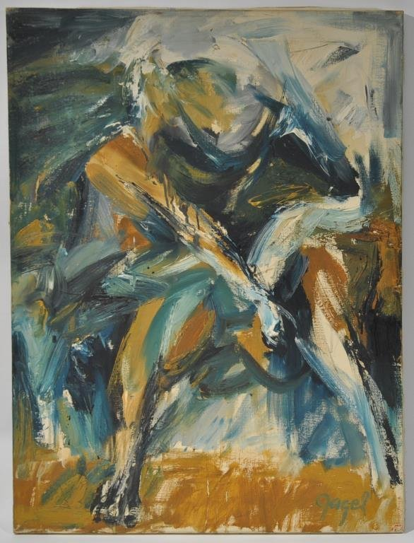 G. GAGEL MID-CENTURY ABSTRACT MALE FIGURE