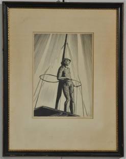 ROCKWELL KENT (AMERICAN 1882-1971) PEN & INK