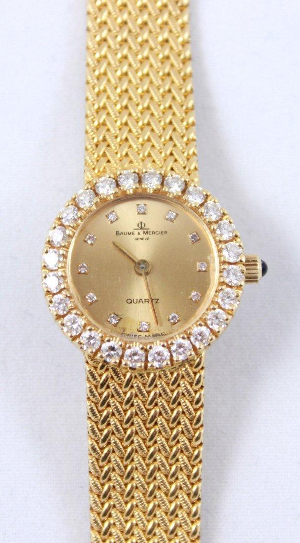 18K GOLD & DIAMOND BAUME MERCIER LADIES WATCH