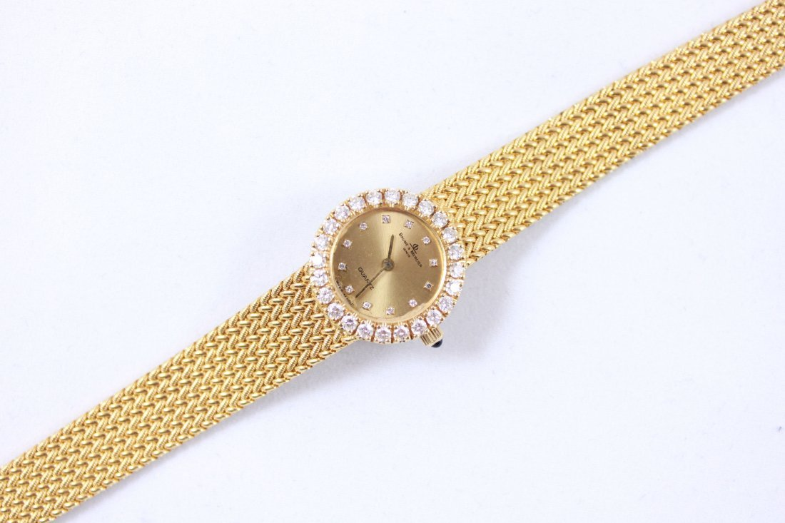 18K GOLD & DIAMOND BAUME MERCIER LADIES WATCH - 7