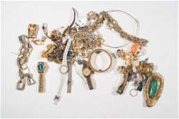 JEWELRY GROUPING INCL GOLD  SILVER