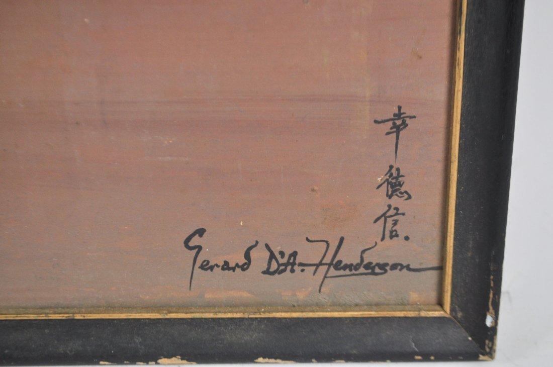 GERARD D'A HENDERSON (ENGLISH B. 1928) PAINTING - 2