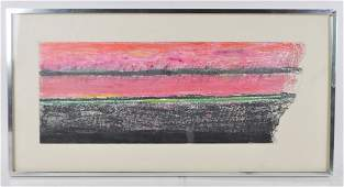 20TH C ABSTRACT PASTEL
