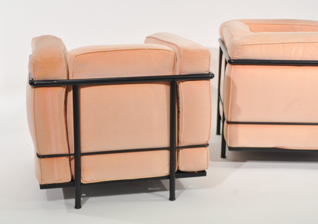 PAIR OF LE CORBUSIER LC2 LOUNGE CHAIRS FOR CASSINA - 6