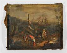 CONTINENTAL (EARLY SPANISH) O/C PAINTING