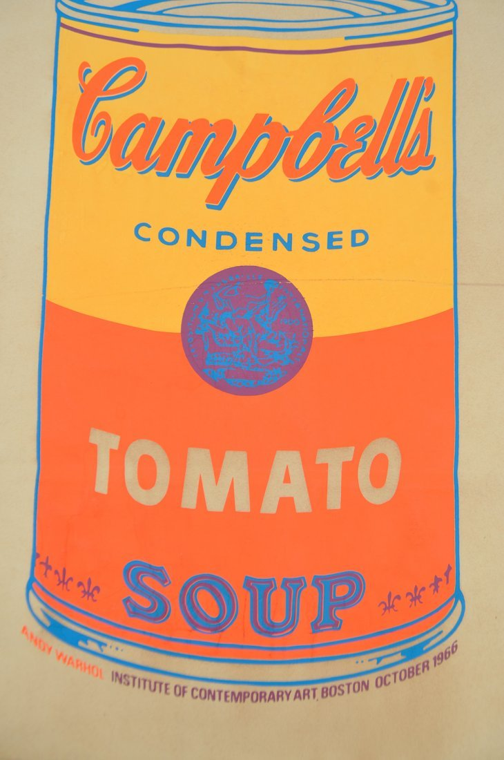 ANDY WARHOL CAMPBELL'S SOUP SHOPPING BAG - 5