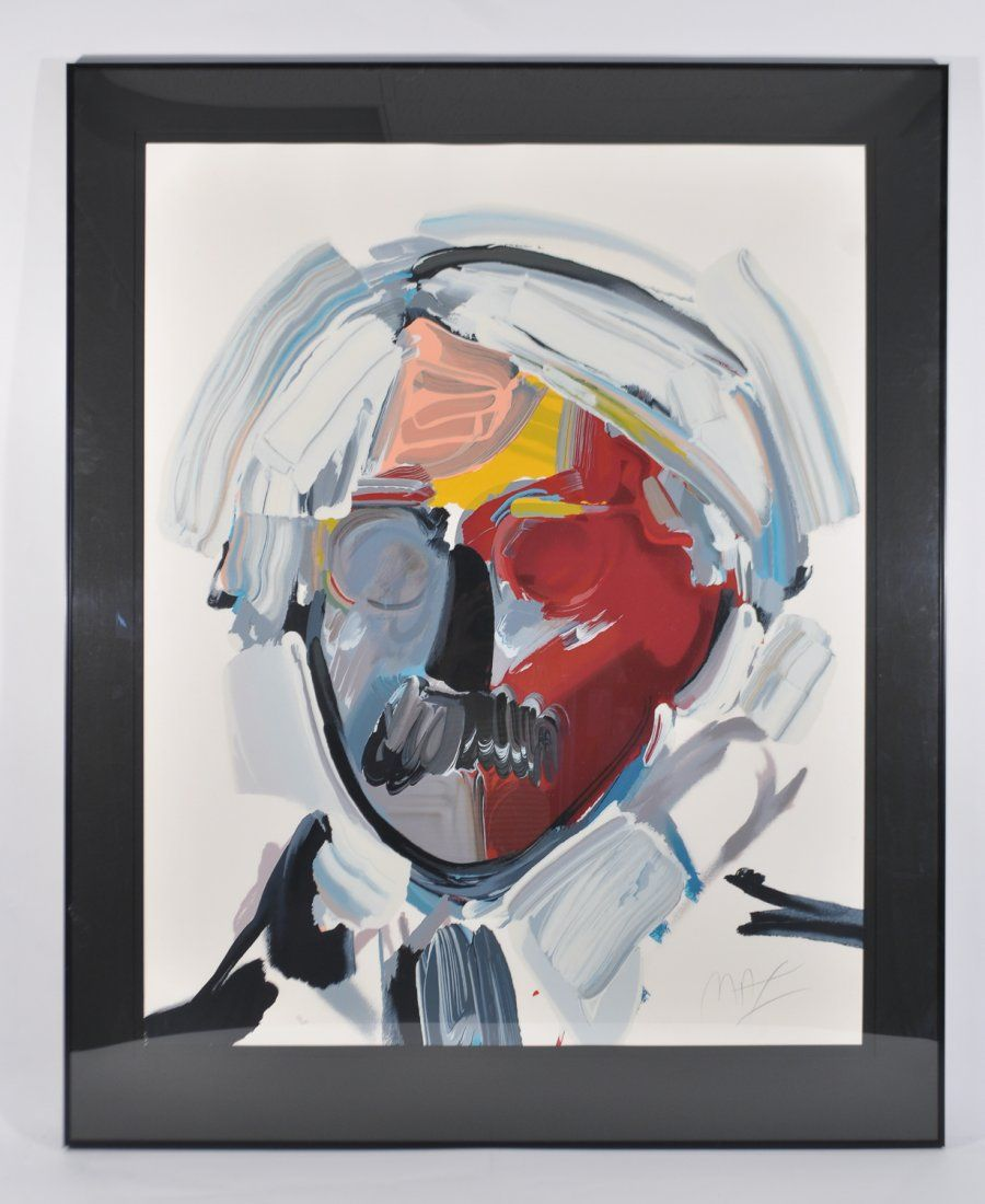"""PETER MAX """"ANDY WITH MOUSTACHE"""" SERIGRAPH"""
