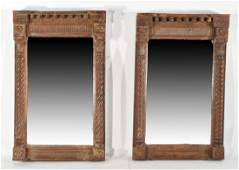 19TH C ITALIAN CARVED WOODEN MIRRORS