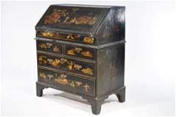 19TH C. ENGLISH CHINOISERIE SECRETARY DESK